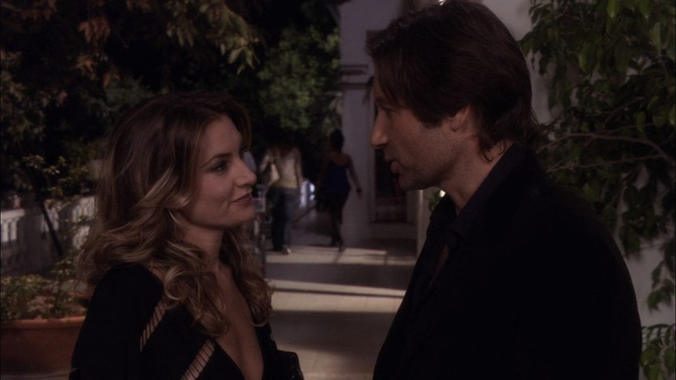 David Duchovny and Madchen Amick in Californication