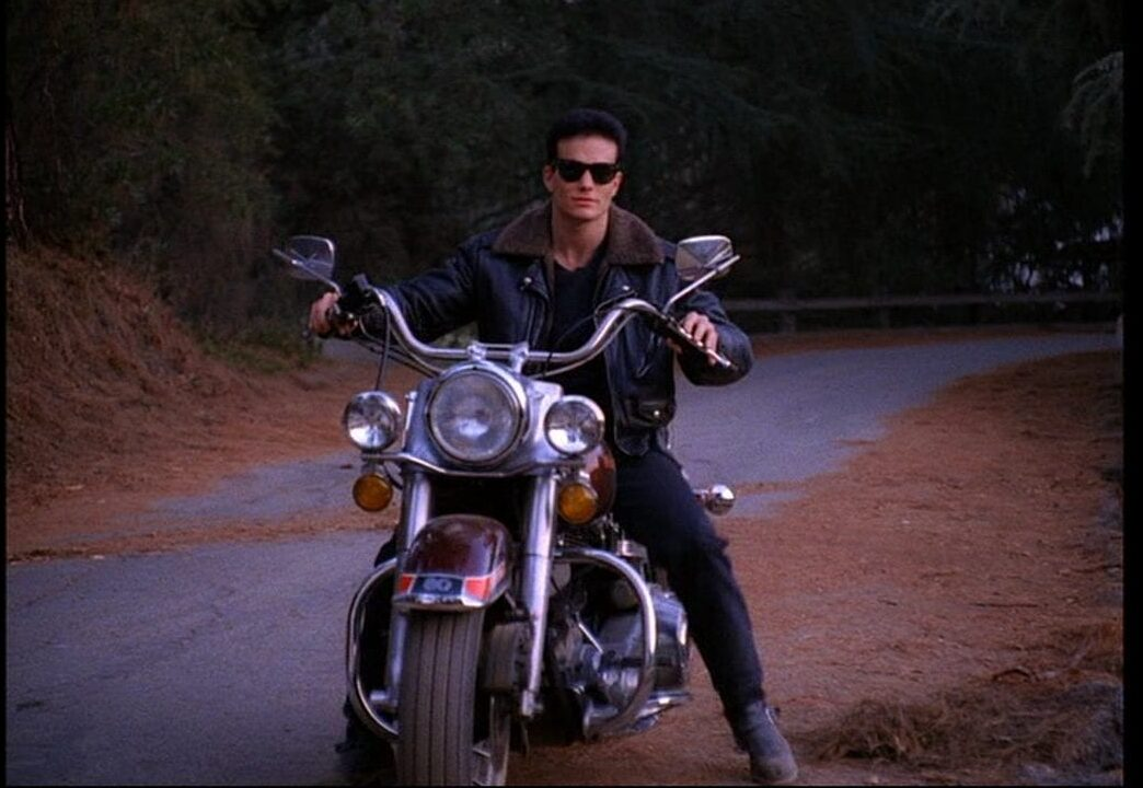 James Hurley on his motorbike in Twin Peaks