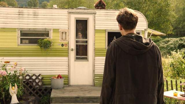 Miriam hides from Richard Horne in her trailer