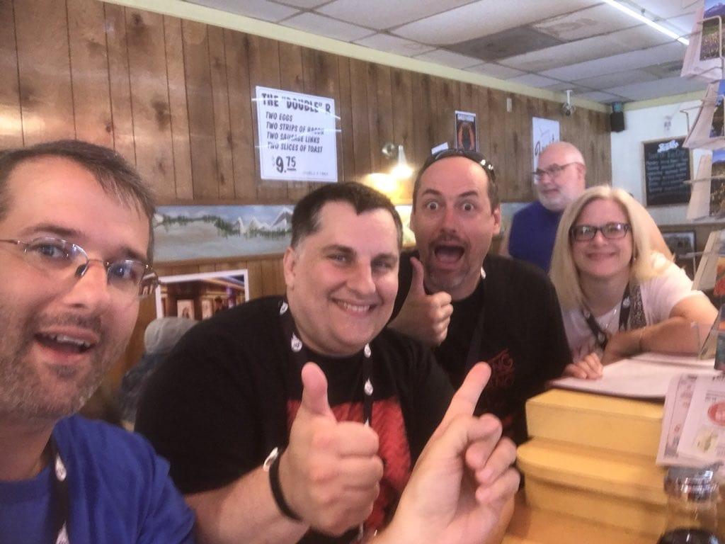 Ben, Bryon, Scott and Jen Ryan at the Twedes Diner
