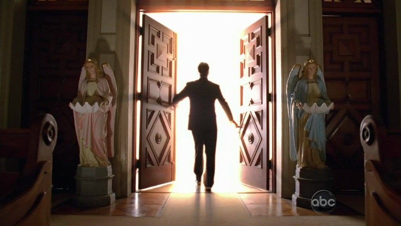 Christian leaves the church in the Lost finale