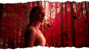 Cassie in the Red Forest in 12 Monkeys