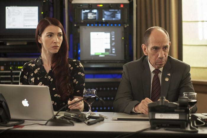 Chrysta Bell and Miguel Ferrer