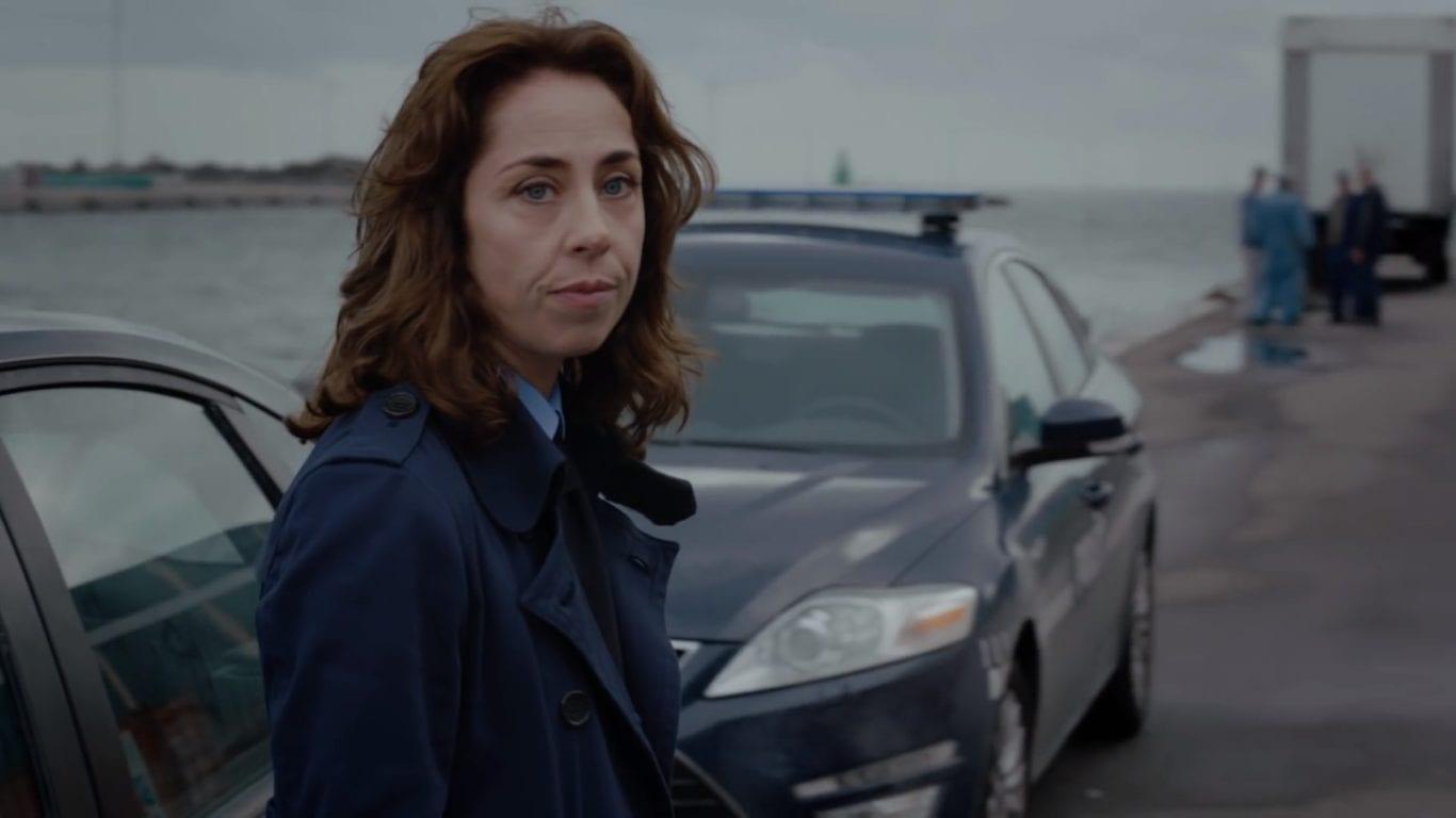 Sofie Gråbøl as Sarah Lund in Forbrydelsen