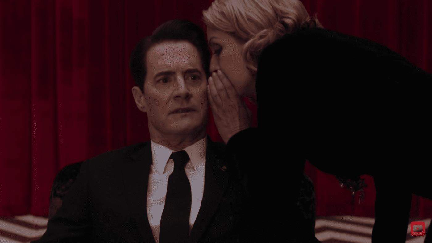 laura palmer whispers in the ear of dale cooper