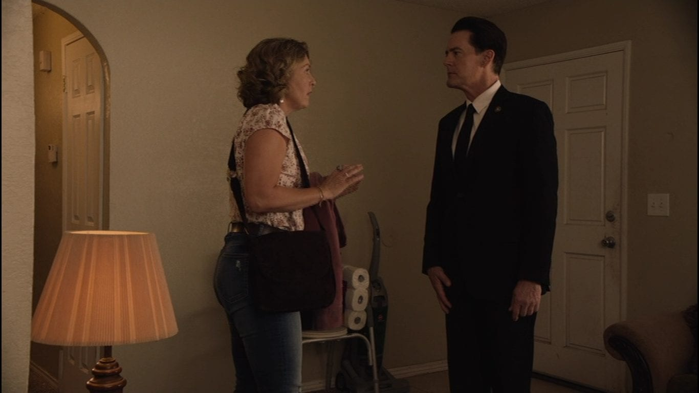 Sheryl Lee as Carrie Page with Agent Cooper in Twin Peaks