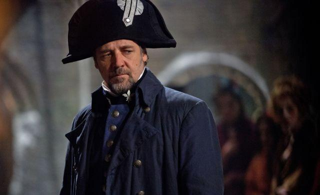 Inspector Javert played by Russell Crowe in Les Miserables