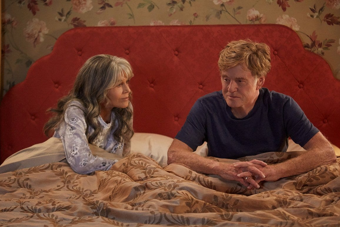 Jane Fonda and Robert Redford talk in bed together in Our Souls at Night