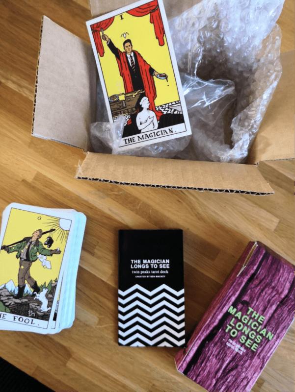 Twin Peaks tarot by Ben Mackey