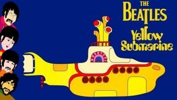 The Beatles get animated in the film Yellow Submarine.