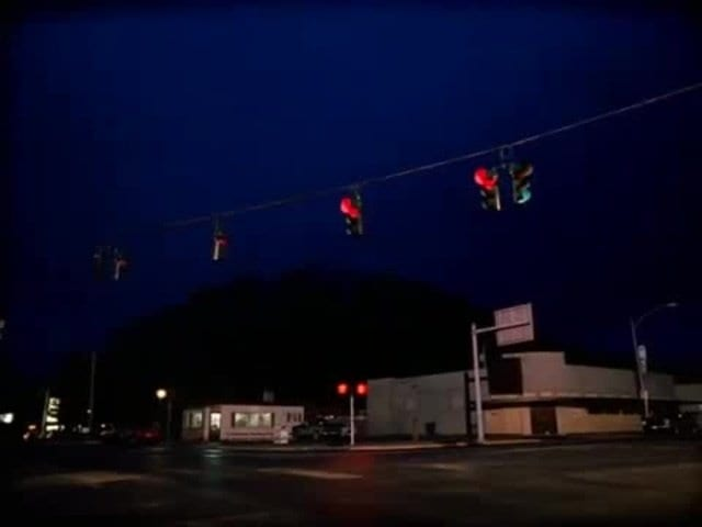 traffic lights in Twin Peaks