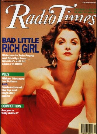 radio times cover with Audrey Horne/Sherilyn Fenn