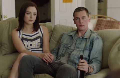 Ashley the cheerleader with her boyfriend in Sharp Objects