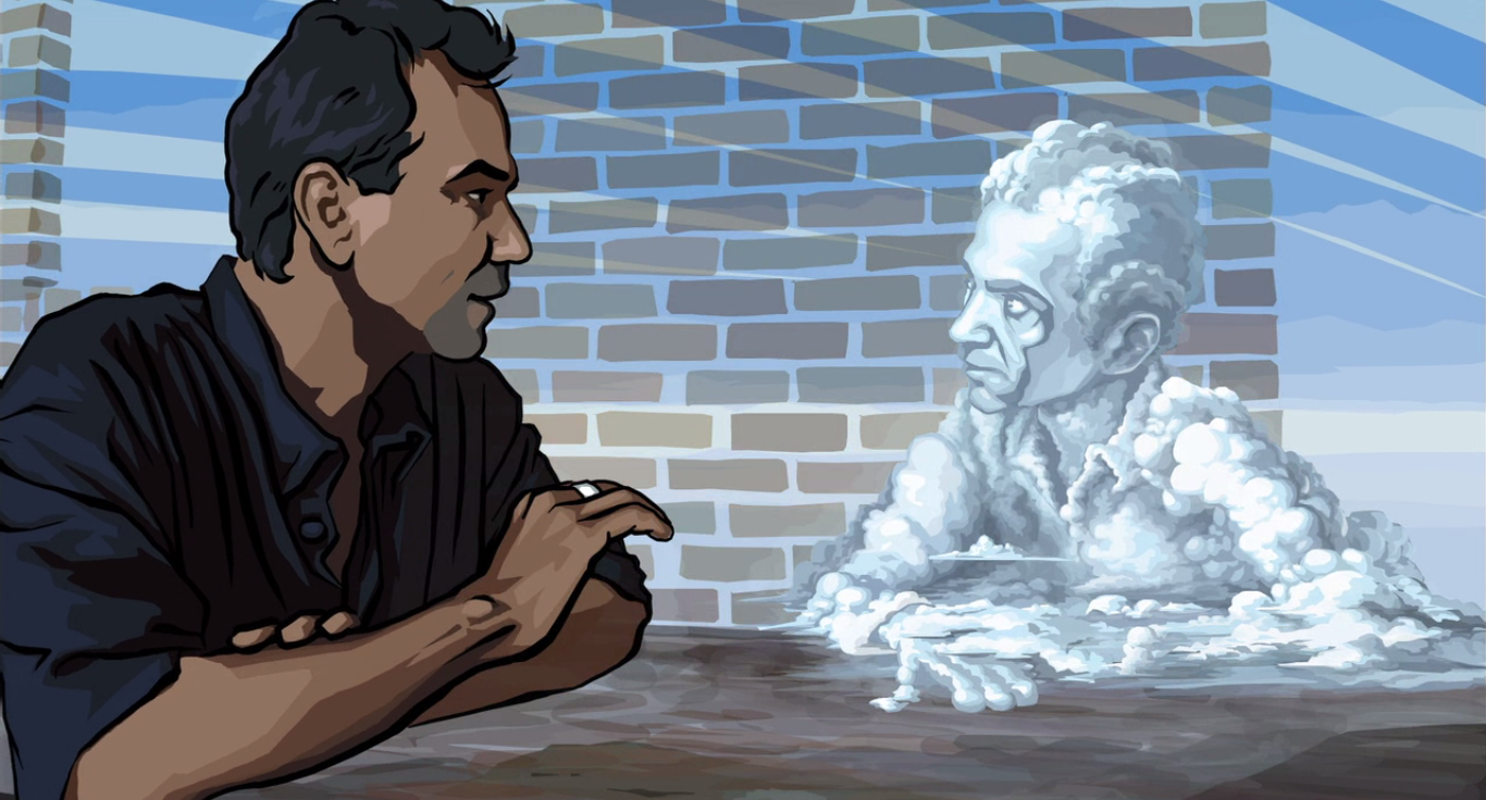 Philosophy becomes art in Waking Life