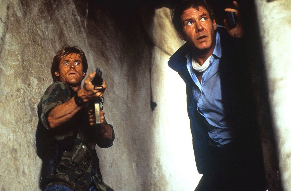 Willem Dafoe and Harrison Ford in Clear and Present Danger