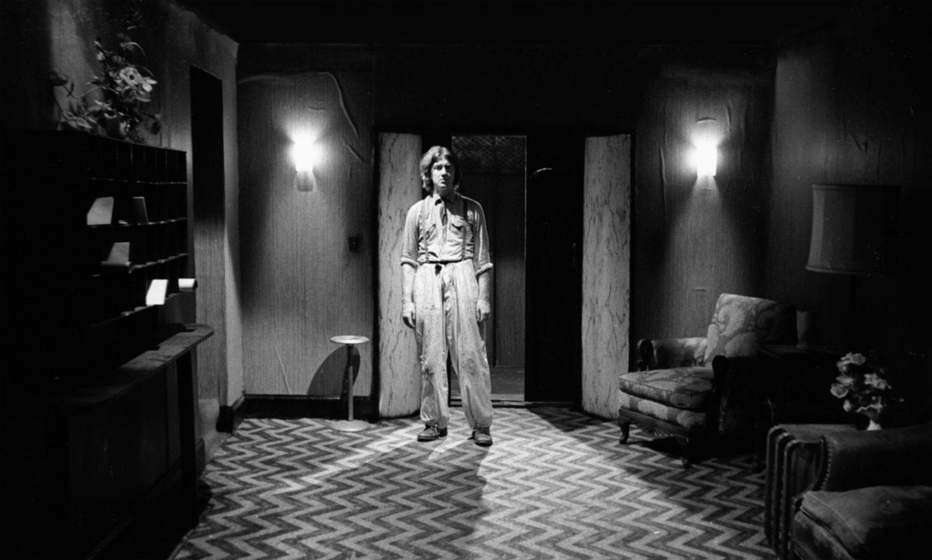 David Lynch on the set of Eraserhead