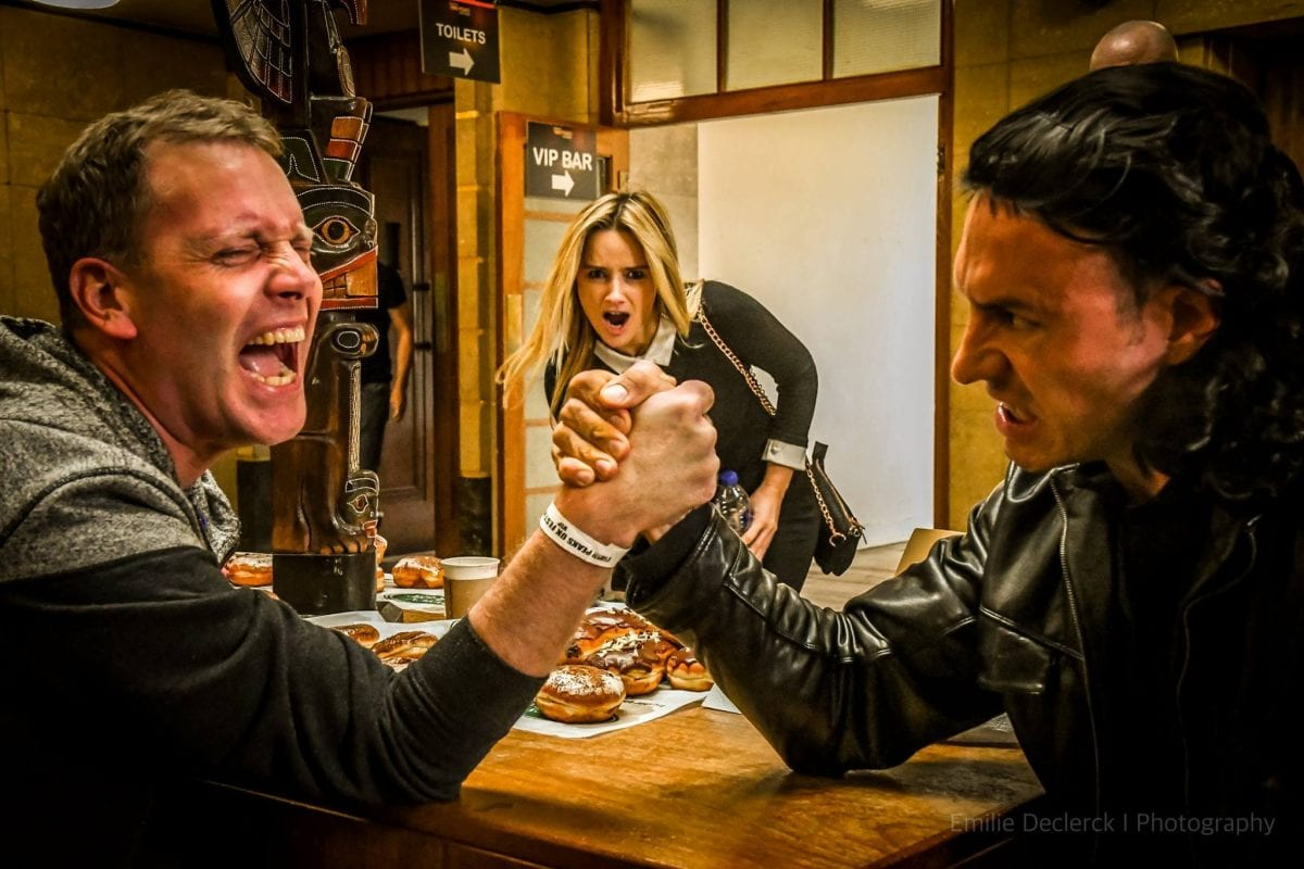 Amy Shiels stumbles upon an arm wrestle at the twin peaks festival