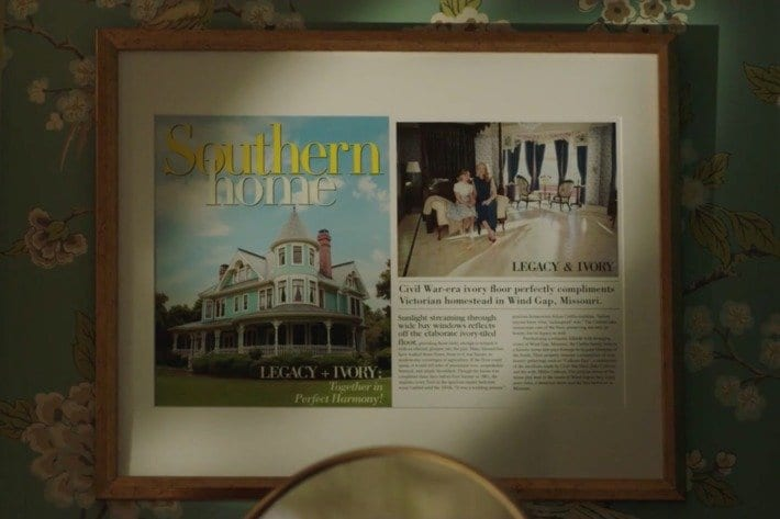 southern home magazinr featured framed on a wall