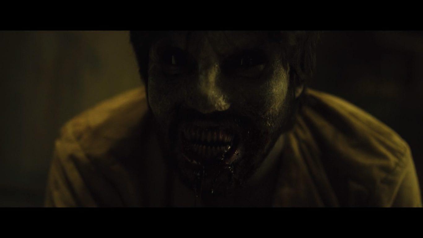 man turned zombie