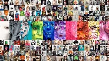 Montage of 365 masquerades