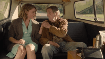 Carl takes Shelly's hand in comfort in the backseat of the car