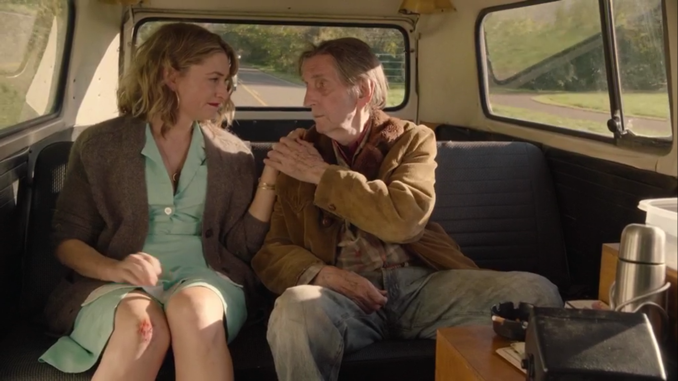 Harry Dean Stanton with Madchen Amick as Carl Rodd and Shelly in Twin Peaks