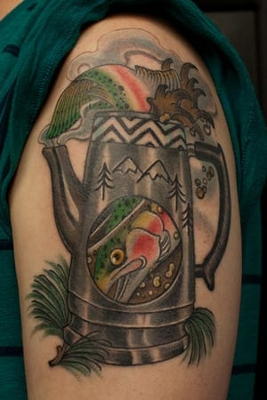 fish in the percolator tattoo