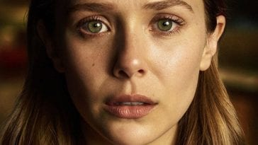 Olsen plays Leigh. Grief written all over her face
