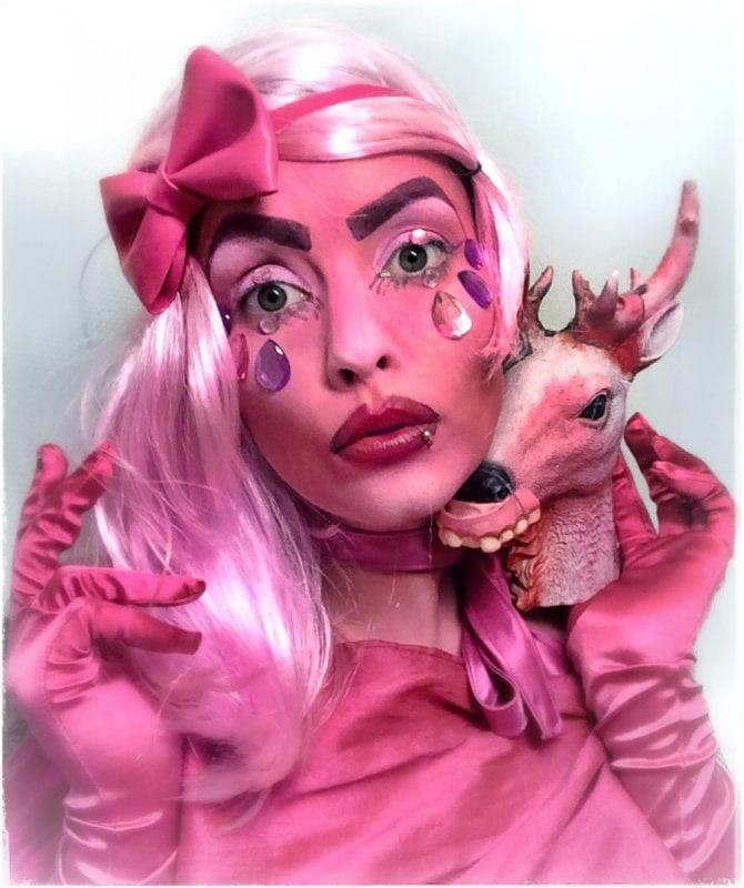 Pink (Day 329). Self-portrait.