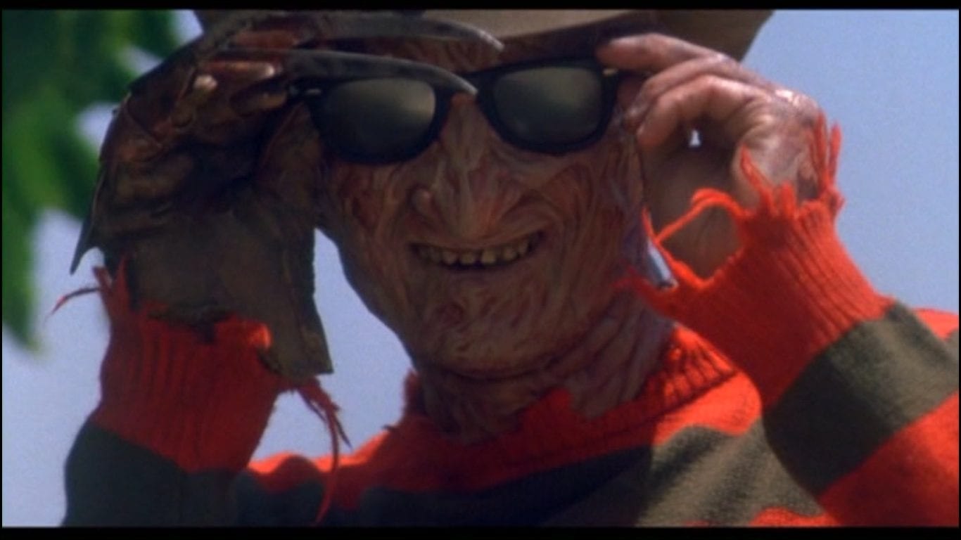 Freddy Krueger wears shades and smiles