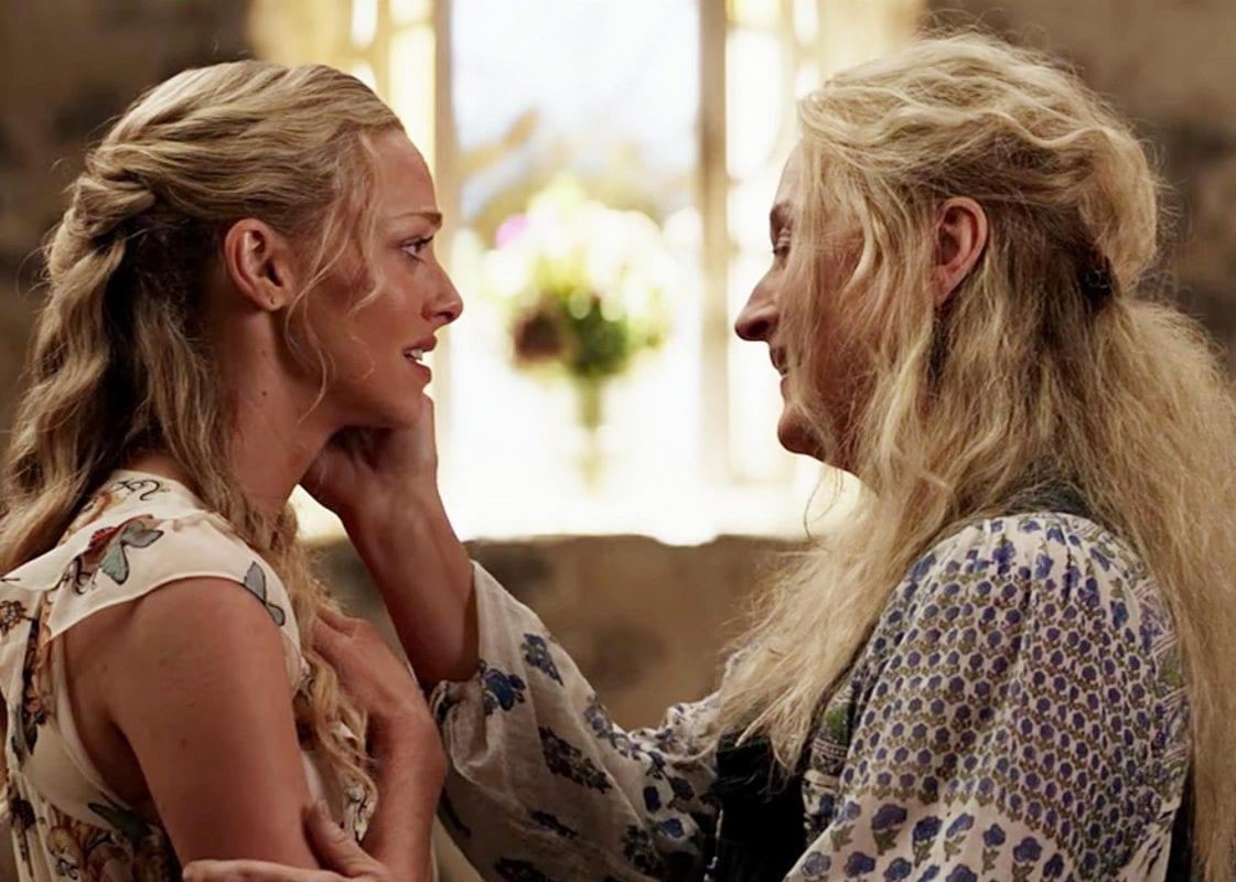 Seyfried and Streep in Mamma Mia! Here We Go Again