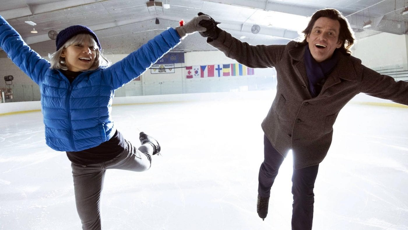 Jeff and Will ice skating in Kidding