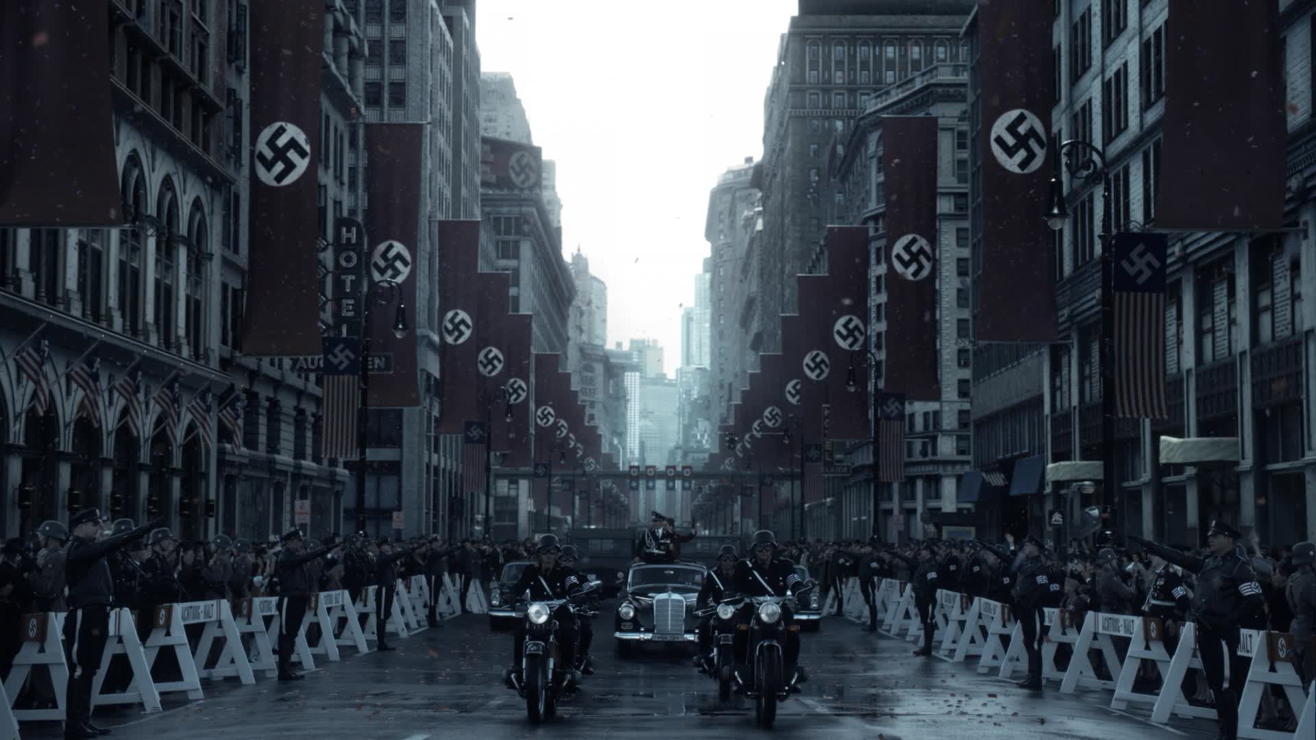 a Nazi Parade in Man in the High Castle
