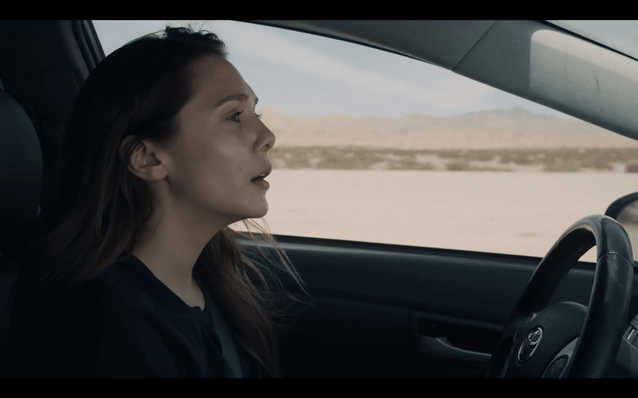 Leigh drives to Palm Springs alone