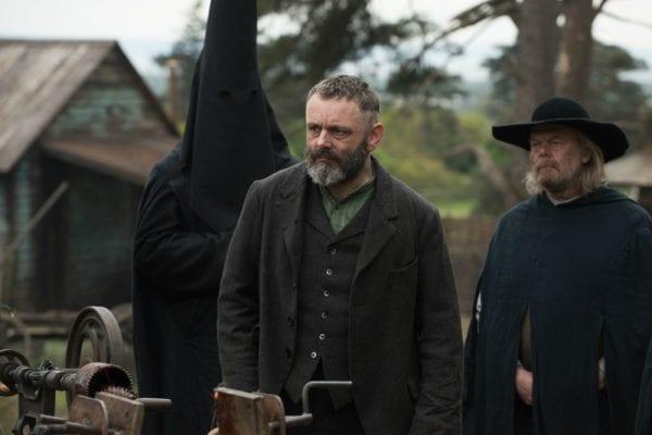 Michael Sheen as Prophet Malcolm in the Netflix Horror, Apostle