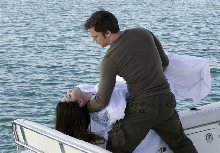 Dexter lays his sister to rest in the Dexter series finale.
