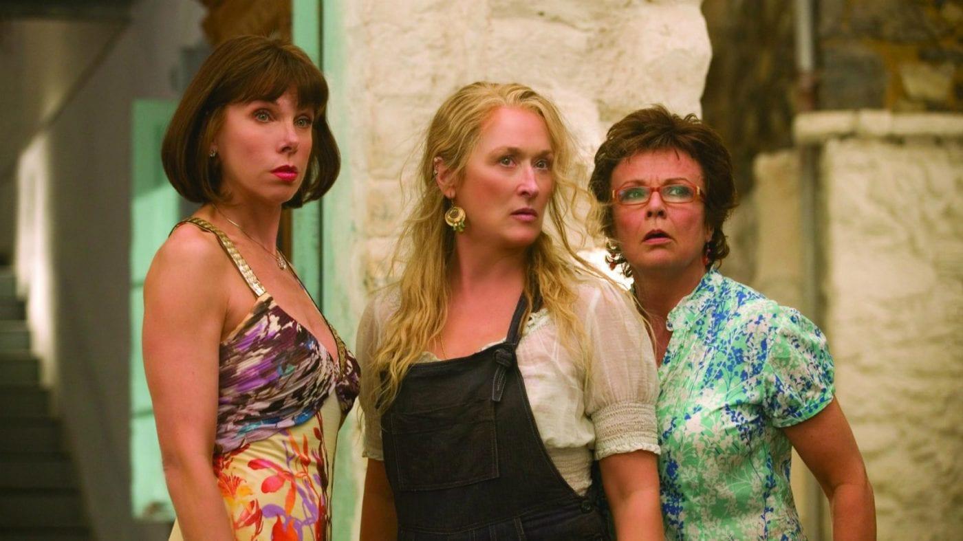 Baranski, Streep and Walters in Mamma Mia!