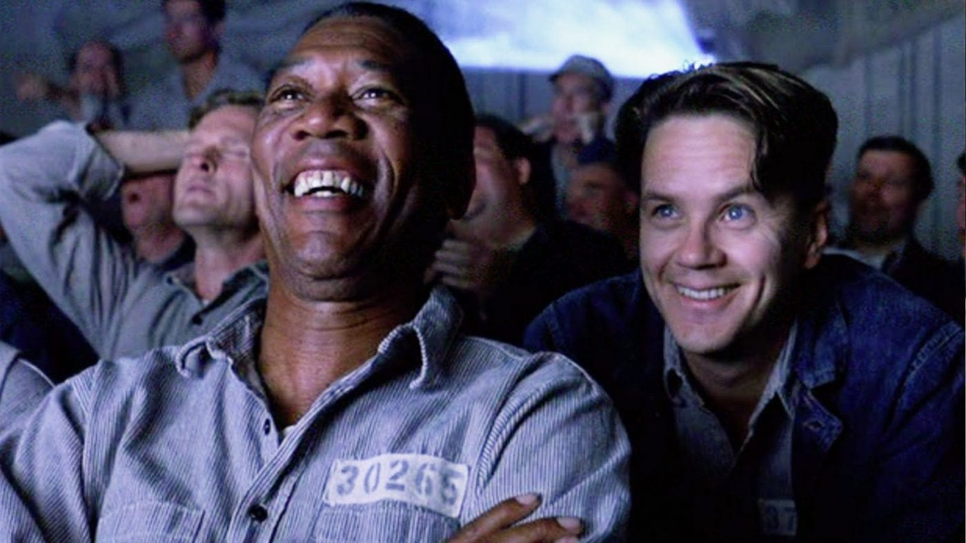 Morgan Freeman and Tim Robbins in The Shawshank Redemption