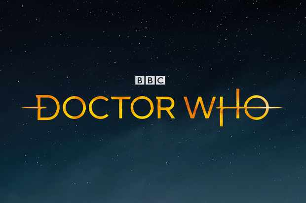 The Doctor Who logo appears against the background of a night sky