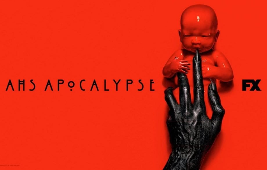 Title cover for American Horror Story:Apocalypse, starring Evan Peters, Kathy Bates and Sarah Paulson