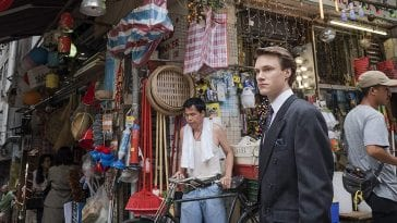 Simon in a bazaar