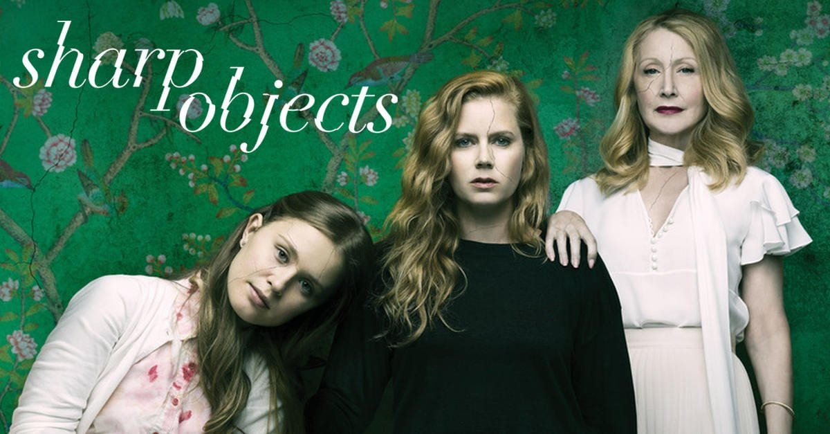 Title cover for Sharp Objects, starring Amy Adams, Patricia Clarkson on HBO