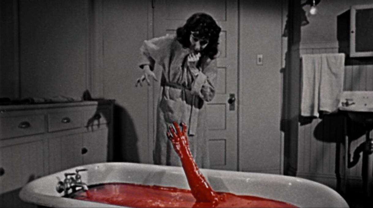 Judith Evelyn as Martha Higgins, Bloody Bath in The Tingler, 1959