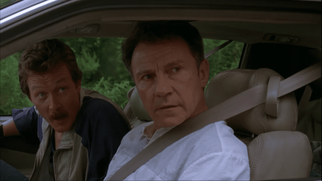 Robert Patrick and Harvey Keitel in Cop Land