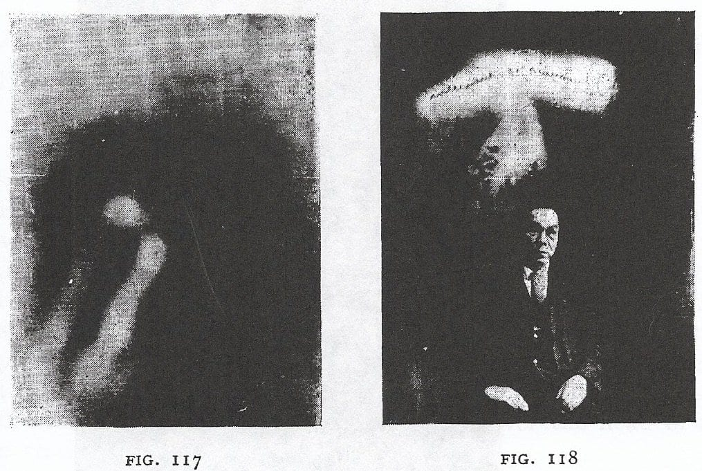 On the left, the partly disfigured 'Ring'. On the right, Furukai's portrait, with a glowing figure and the French phrase,