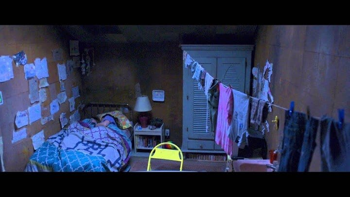 "Ma and Jack's ""Room"" in the film of the same name"