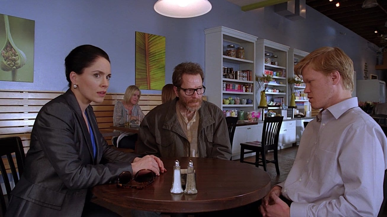 """Walter White surprises Lydia Rodarte-Quayle and Todd Alquist in the Breaking Bad series finale """"Felina"""""""