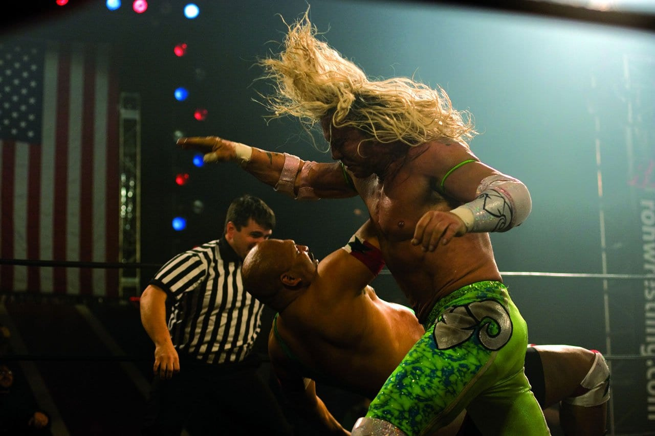 Mickey Rourke in the closing match of The Wrestler