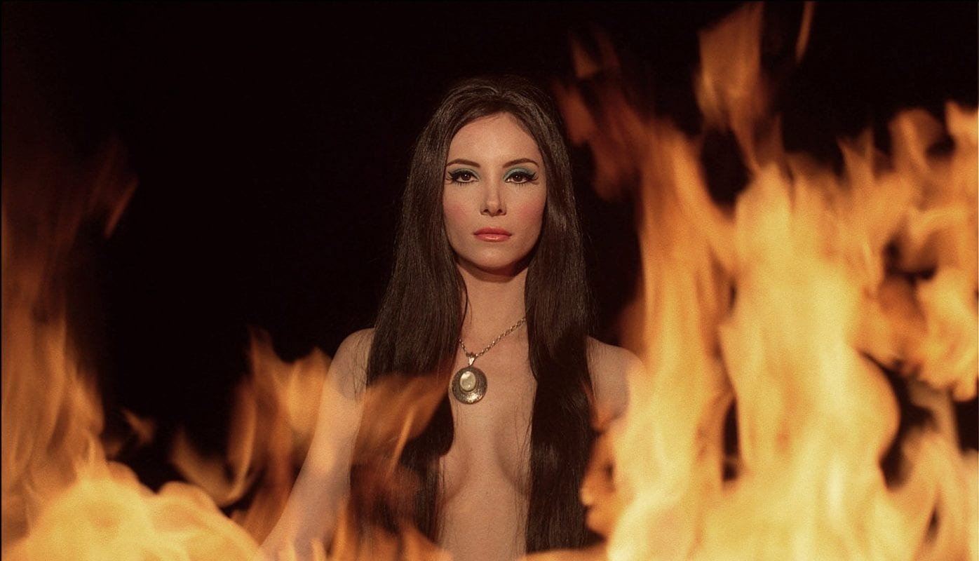 The Love Witch in flames
