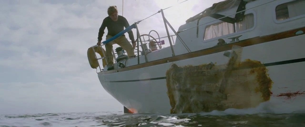 Robert Redford lost at sea in All Is Lost
